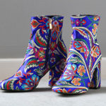 floral boots -Shoe Trends