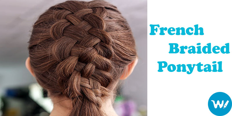 French Braided Low Ponytail: