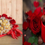chocolates and red roses-Valentine's gift