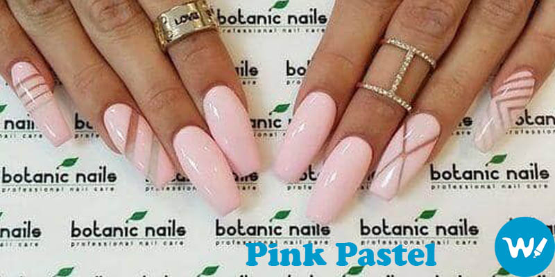 coffin nails Pink Pastel